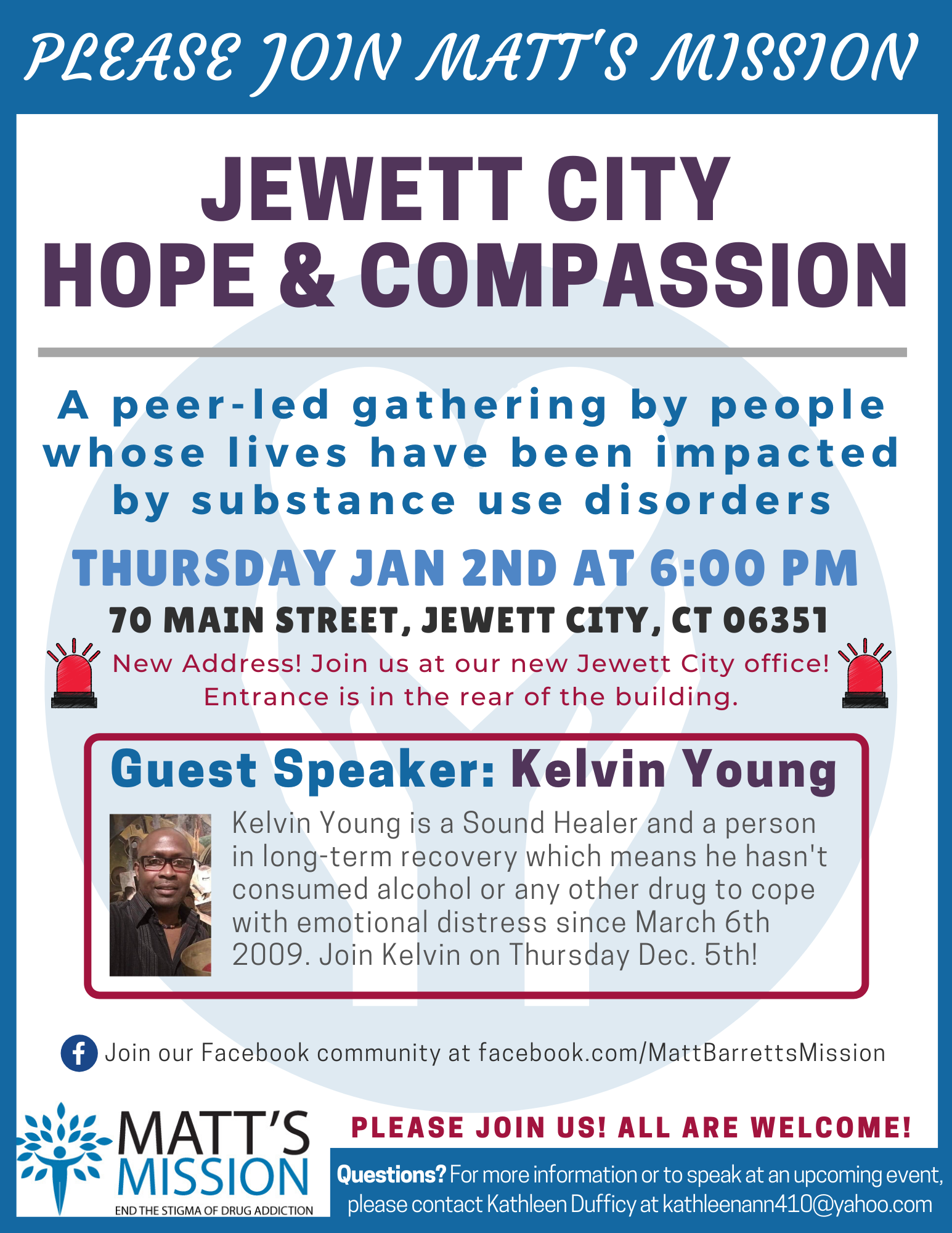 Join us for Jewett City Hope and Compassion on January 2nd, 2019.