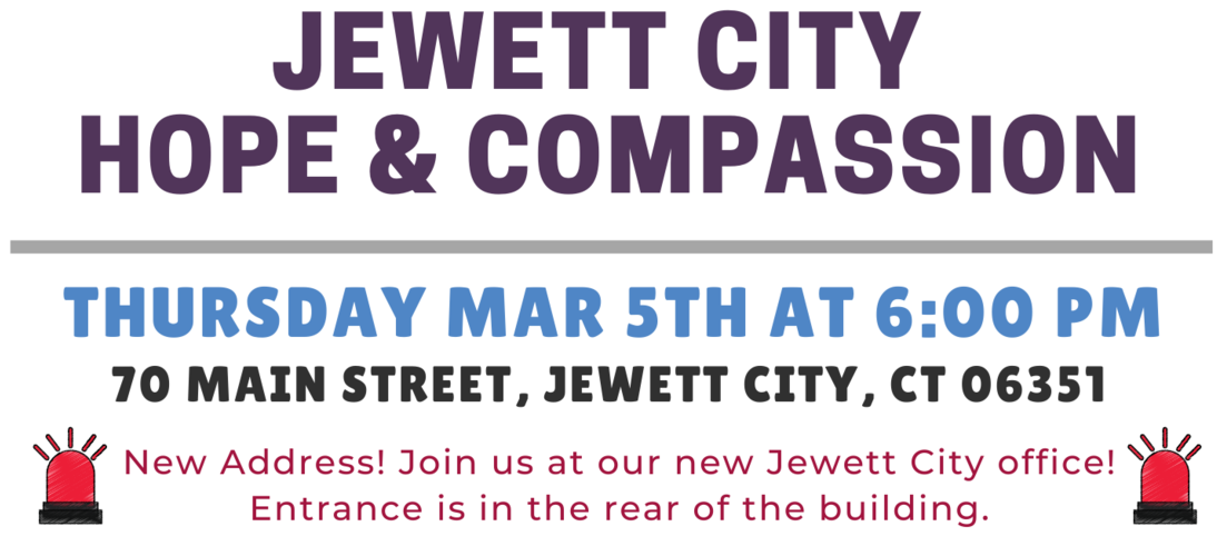 March 2020 - Jewett City Hope and Compassion Event Details Featured