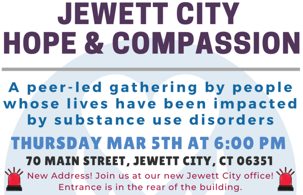 March 2020 - Jewett City Hope and Compassion Event Details